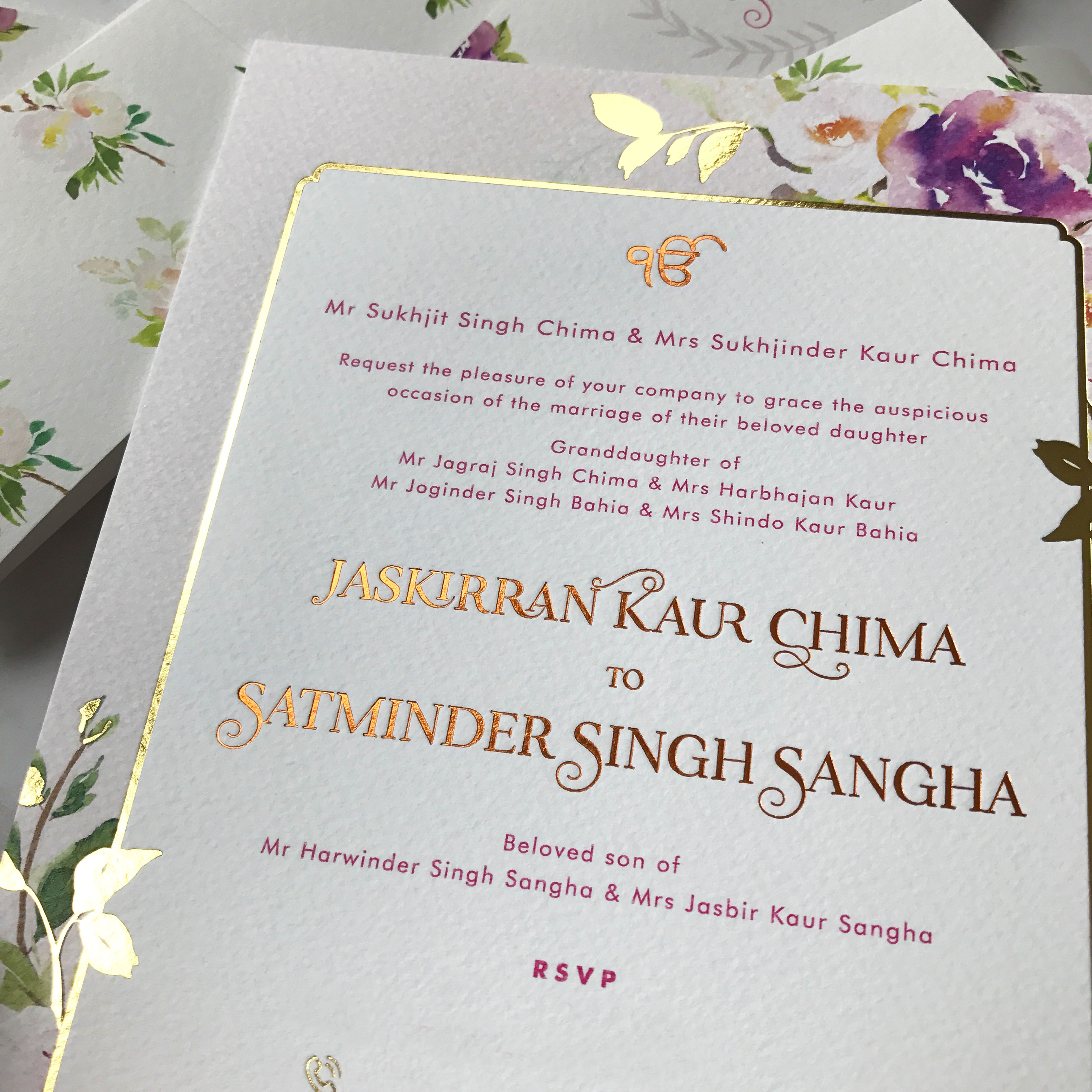 whimsical petals - Best Asian Wedding Stationery Supplier in UK