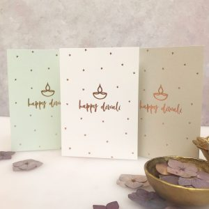 Luxury Gold foil Diwali Greeting Card