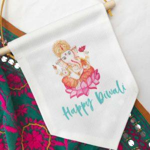 Happy Diwali Hand-painted Ganesh