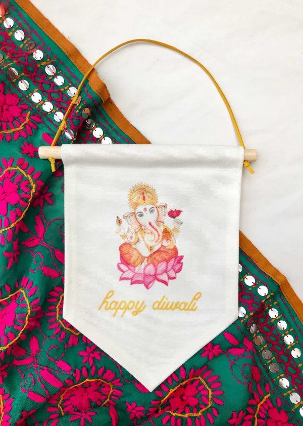 Happy Diwali Ganesh with script